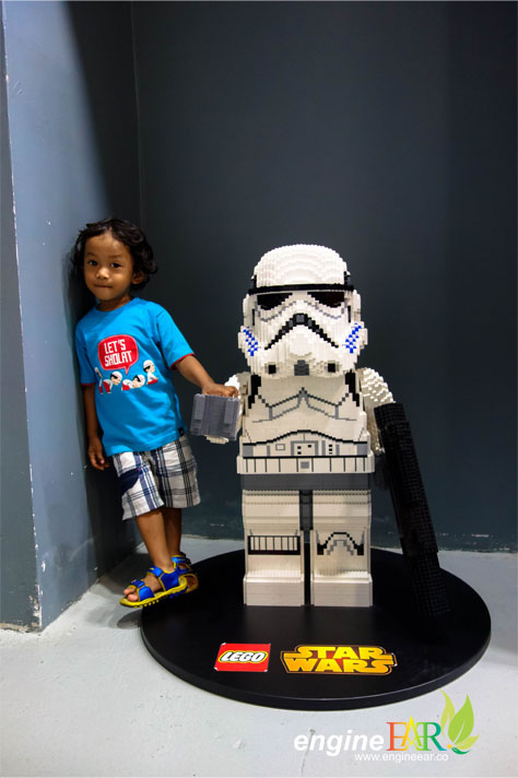 He was so glad to met a big Stormtrooper